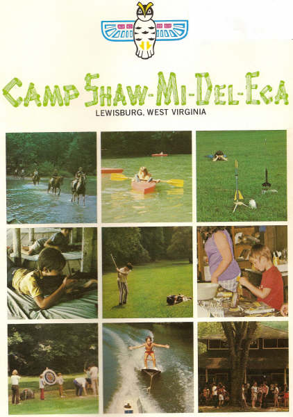 Cover of Camp Shaw-Mi-Del-Eca promotional catalog: 1975